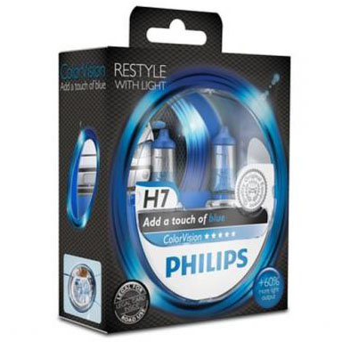 pack 2 ampoules h7 philips colorvision blue 55w yakaequiper. Black Bedroom Furniture Sets. Home Design Ideas