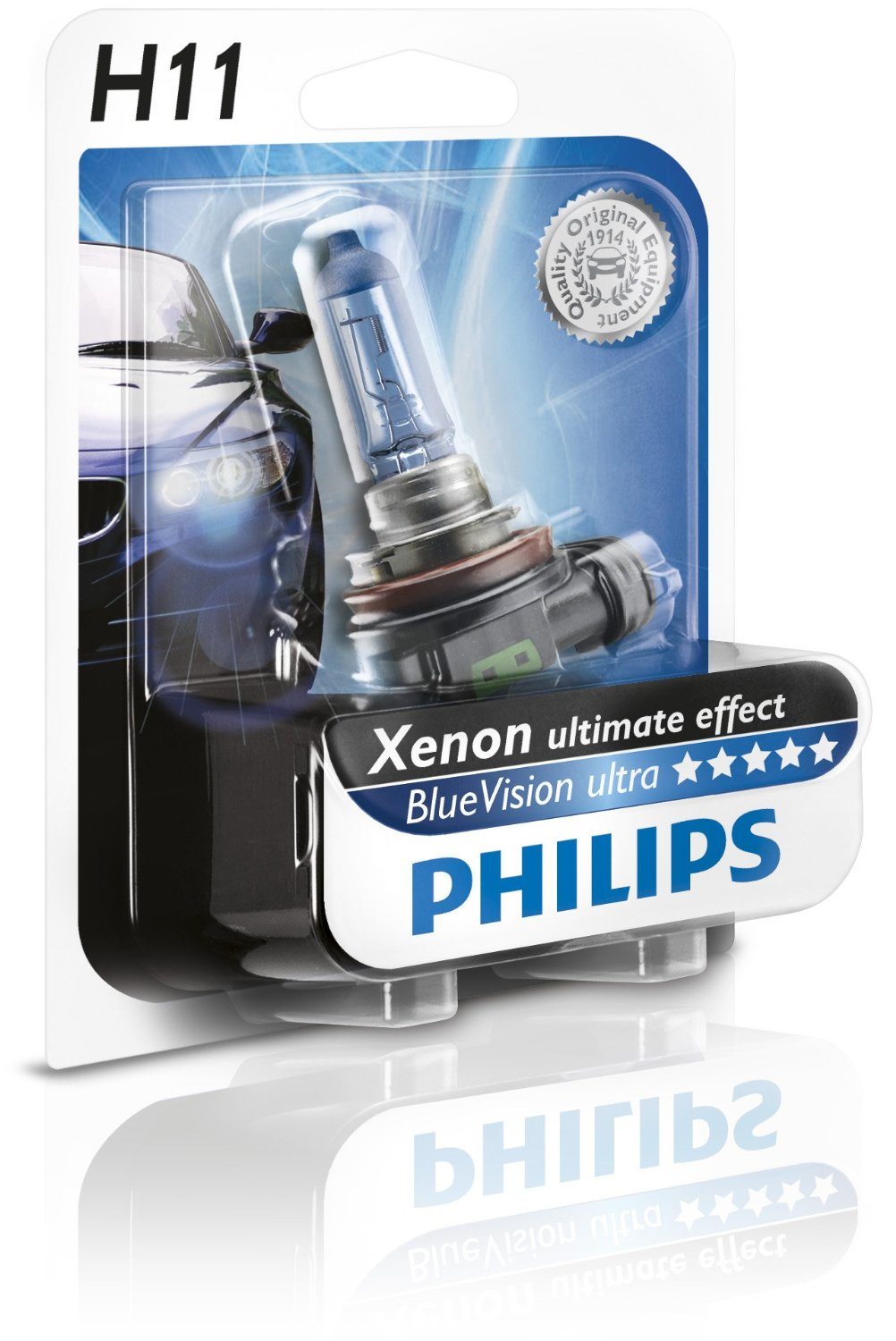 1 Ampoule H11 Philips Blue Vision Ultra 55w Yakaequiper