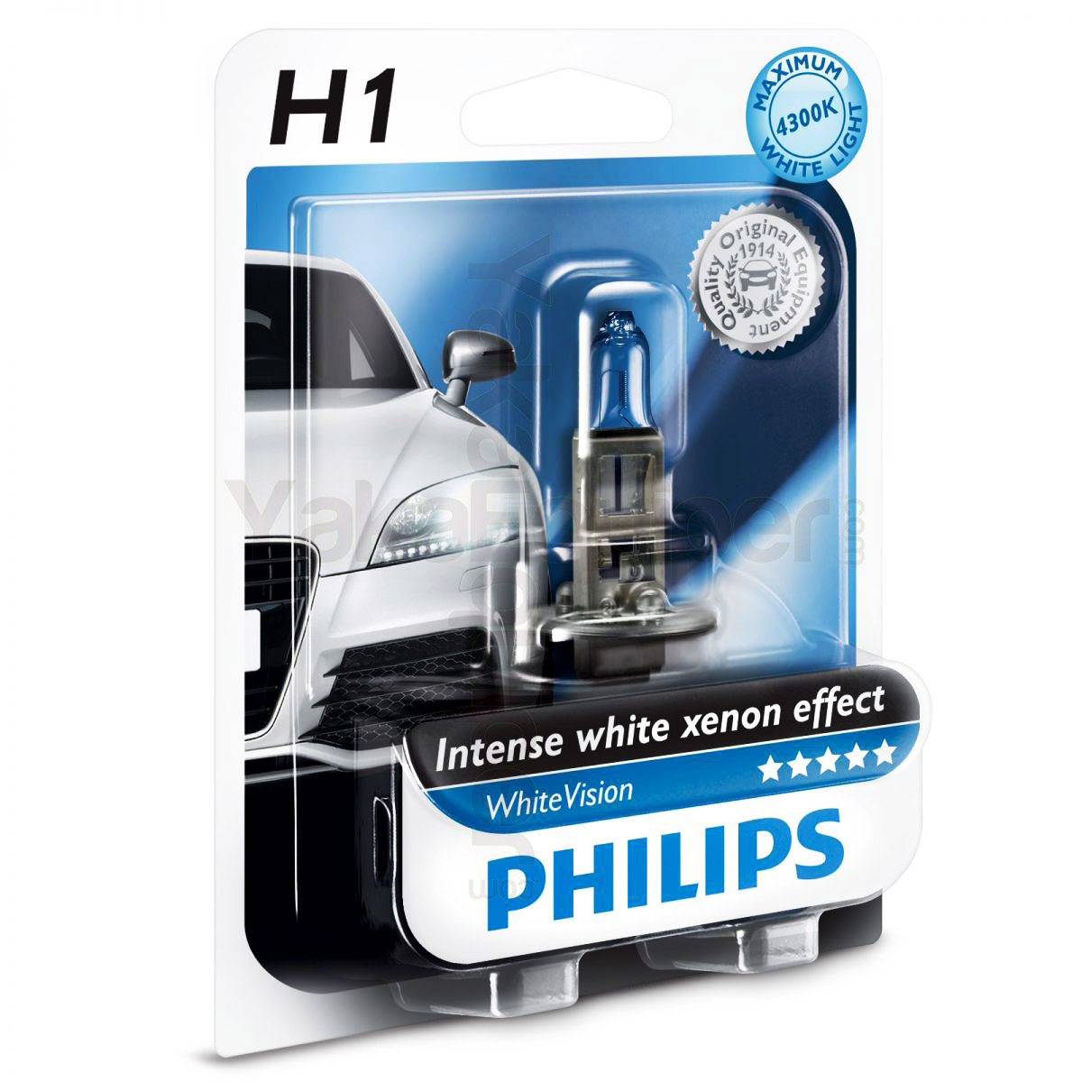 1 ampoule h1 philips whitevision 4300k yakaequiper. Black Bedroom Furniture Sets. Home Design Ideas