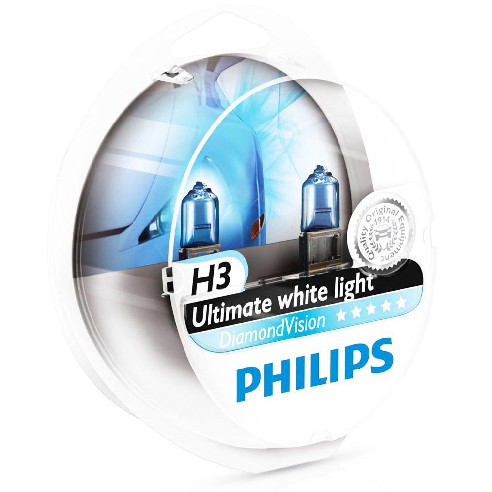 2 ampoules philips h3 diamond vision 55w yakaequiper. Black Bedroom Furniture Sets. Home Design Ideas