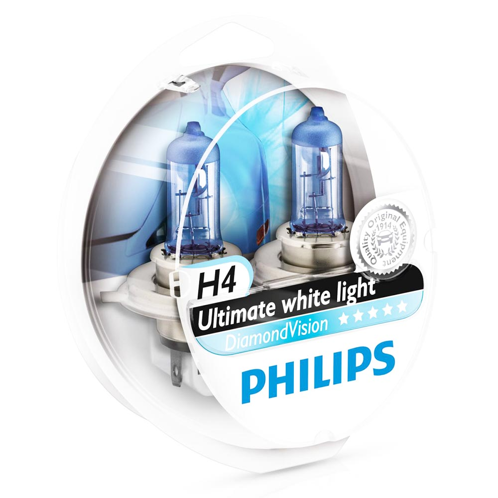 2 ampoules philips h4 diamond vision 55w yakaequiper. Black Bedroom Furniture Sets. Home Design Ideas