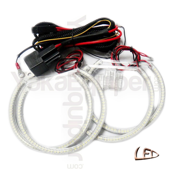 Pack 4 Anneaux Angel Eyes Led Bmw E53 X5 Blanc 6000k
