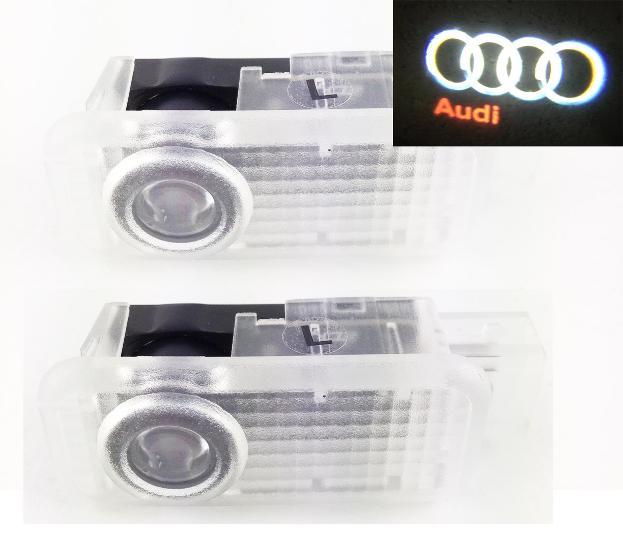 pack ghost led light voor audi low door light logo audi. Black Bedroom Furniture Sets. Home Design Ideas
