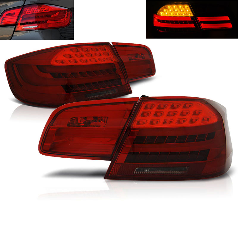 feux arriere bmw serie 3 e92 led 06 10 rouge teinte yakaequiper. Black Bedroom Furniture Sets. Home Design Ideas