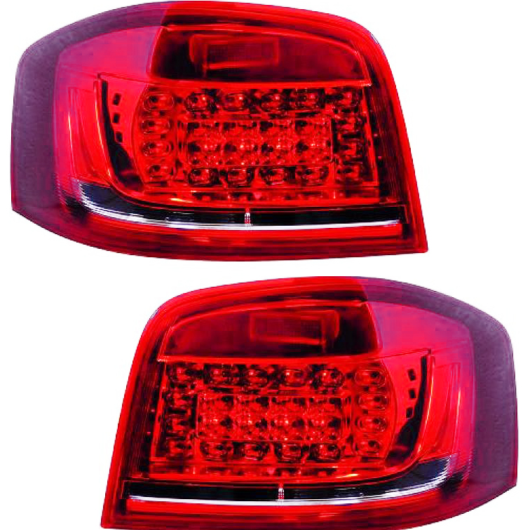 2x feux arriere led audi a3 8p 08 12 rouge yakaequiper. Black Bedroom Furniture Sets. Home Design Ideas