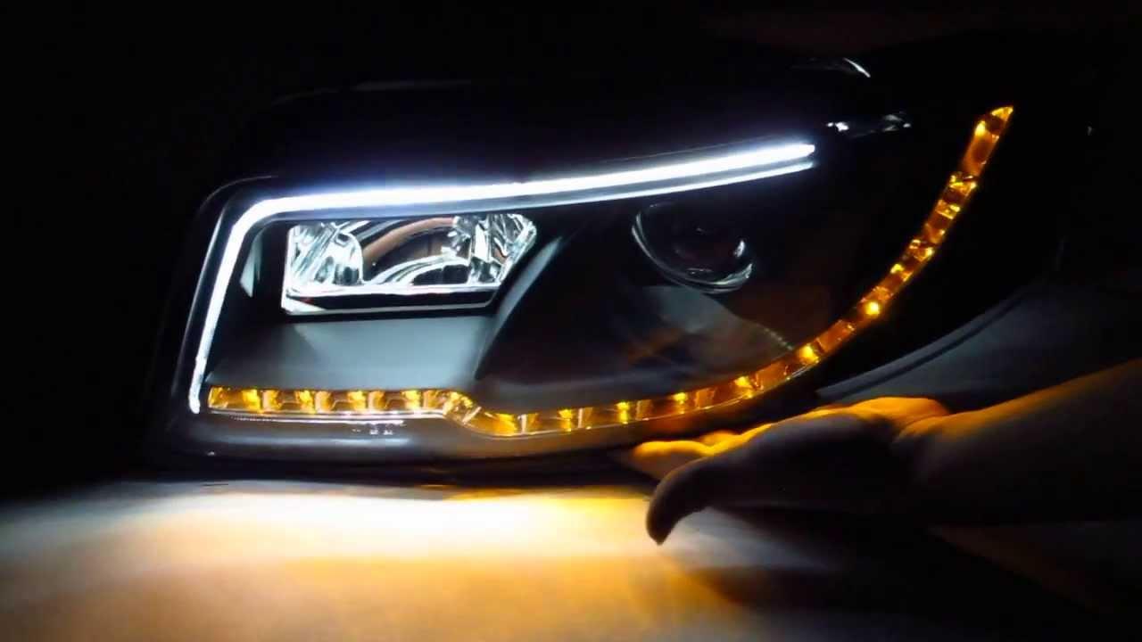 Audi A4 B6 Headlights Lti And Led Black Yakaequiper