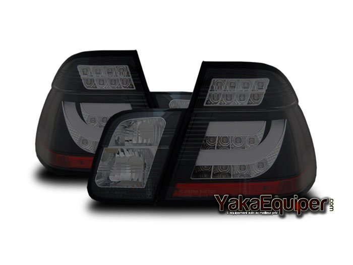 feux arriere bmw e46 berline led 02 04 fume noir yakaequiper. Black Bedroom Furniture Sets. Home Design Ideas