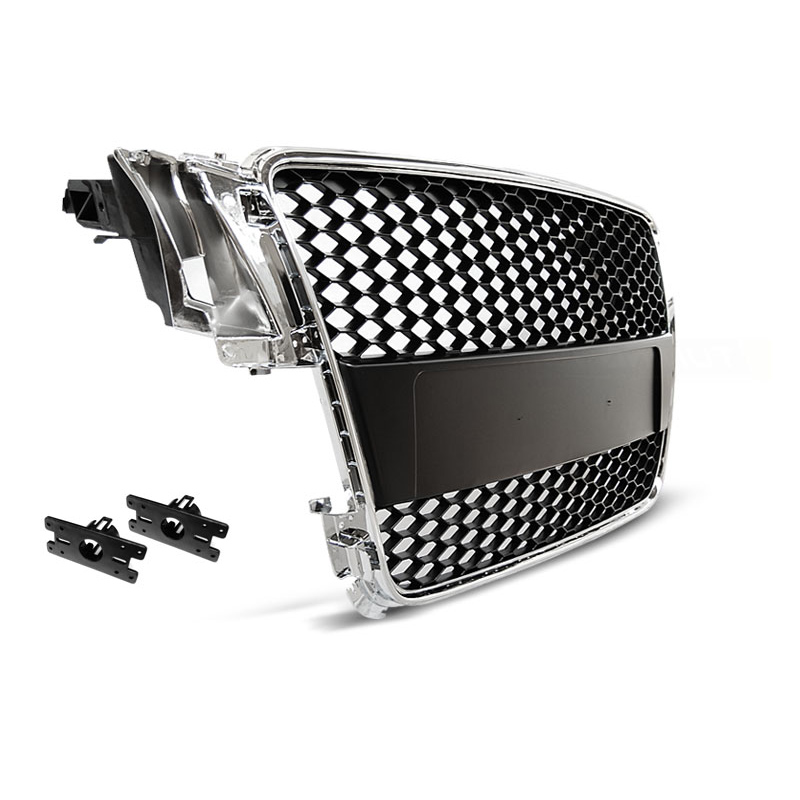 grille calandre audi a5 07 11 look rs5 chrome noir yakaequiper. Black Bedroom Furniture Sets. Home Design Ideas
