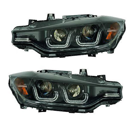2 3 F30 Angel Eyes Xenon Led Headlights 11 15 Black Yakaequiper