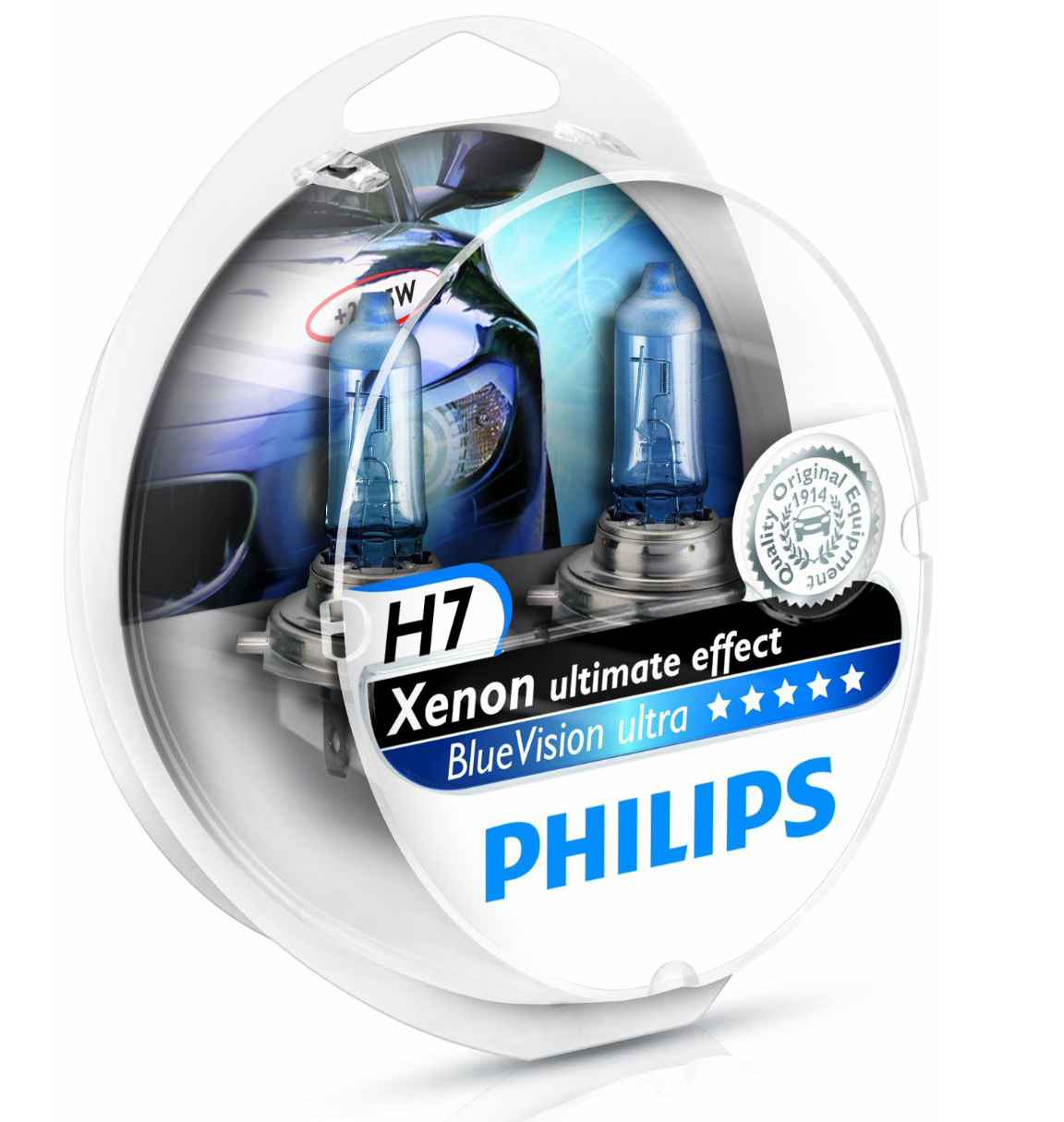 pack 2 ampoules h7 philips blue vision ultra 5w yakaequiper. Black Bedroom Furniture Sets. Home Design Ideas