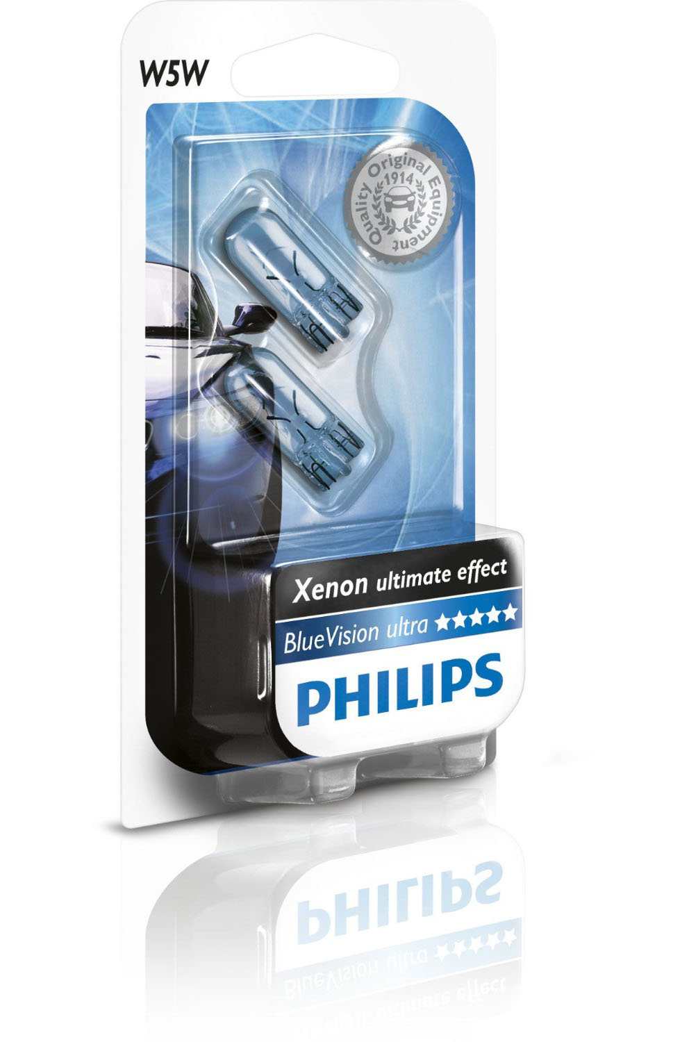 pack 2 ampoules w5w philips blue vision ultra 5w yakaequiper. Black Bedroom Furniture Sets. Home Design Ideas