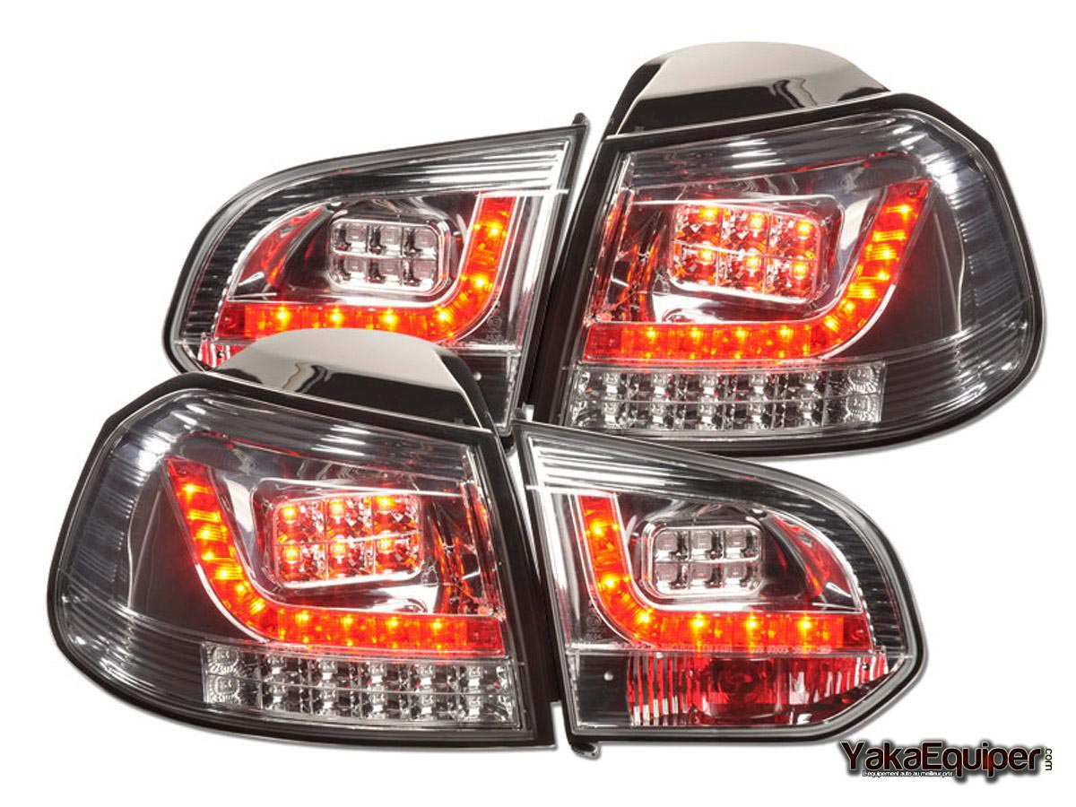 feux arriere vw golf 6 1k led chrome yakaequiper. Black Bedroom Furniture Sets. Home Design Ideas