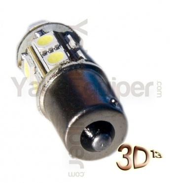 Ampoule 39 LED S25 R5W 1156 BA15S P21W - Blanche