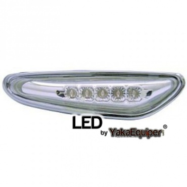 Clignotants repetiteurs LED d'aile BMW E83 E60 E46 - Chrome