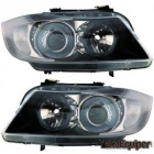 Phares avant BMW Serie 3 E90 E91 Angel Eyes  05-08 - Noir