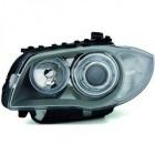 Phares avant BMW Serie 1 E81 E87 Angel Eyes V1 DEPO 04 et + - Gris