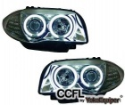 Phares avant BMW Serie 1 E81 E87 Angel Eyes CCFL 04 et + - Chrome