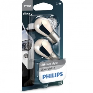Pack 2 ampoules chrome PY21W Philips Silver Vision