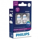 Pack 2 Ampoules T10 Philips X-treme Ultinon LED 8000K - W5W