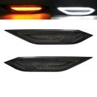 2 Clignotants d'aile LED Porsche Cayenne 11-14 - Noir