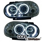Phares avant VW GOLF 4 Angel Eyes CCFL 98-02 - Chrome