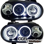 Phares avant VW GOLF 4 Angel Eyes CCFL 98-02 - Noir