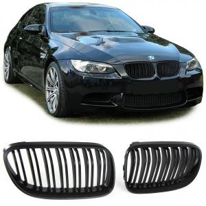 Grilles calandre BMW Serie 3 E92 E93 LCI 10-13- look M3  - Noir Mat