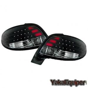 Feux arriere Peugeot 206 LED - Noir