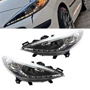 2 Phares avant Peugeot 207 Devil Eyes LED - Noir
