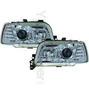 2 Phares avant Renault Clio 1 91-98 Devil Eyes LED - Chrome