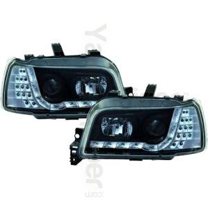 2 Phares avant Renault Clio 1 91-98 Devil Eyes LED - Noir