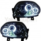 Phares avant Renault Clio 2 98-01 Angel Eyes CCFL - Chrome