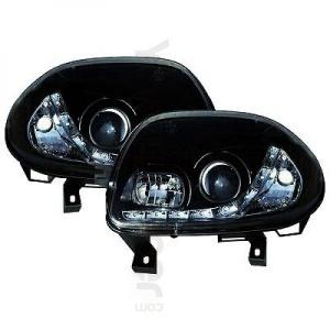 2 Phares avant Renault Clio 2 98-01 Devil Eyes LED - Noir