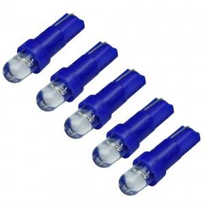 5x Ampoule T5 LED - Culot W1.2W - Bleu