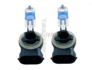Pack 2 Ampoules H27W/2 881 Effet Xenon - Super White 5000K