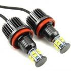 Pack Ampoules LED anneaux H8 LUXE V6 angel eyes BMW Serie 3 E90 E91 E92 E93