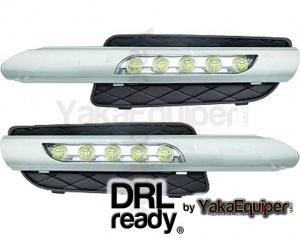 Feux de jour LED DRL Ready - BMW X5 (E70) - Blanc