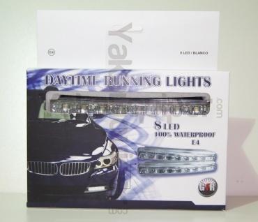 Feux de jour 8 LED Diurne 15cm - Blanc Xenon - Daytime