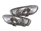 Phares avant VW Scirocco Devil Eyes LED - Chrome