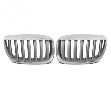 Grilles calandre BMW X5 E53 lci 04-06 - Gris titane