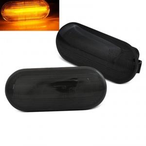 2 Clignotants d'aile LED pour VW GOLF 3 - 4 Passat Polo - Seat Ibiza - Noir