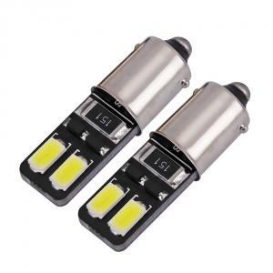 Ampoule H6W LED Twin3 5730 - Anti Erreur OBD - Culot BA9XS - Blanc Pur