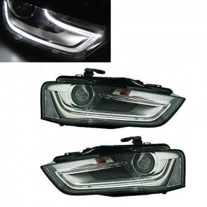 Phares halogene LED AUDI A4 B8 11-15 - look xénon