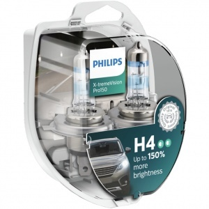 Pack 2 ampoules H4 Philips X-tremeVision Pro150