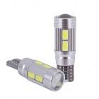 Ampoule T10 LED 3D<sup>10</sup> SMD- Anti Erreur OBD - Culot W5W - Blanc Pur