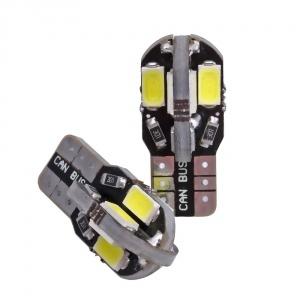 Ampoule T10 LED 3D<sup>8</sup> 5730 - Anti Erreur OBD - Culot W5W - Blanc Pur