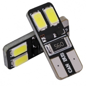 Ampoule T10 LED Twin<sup>2</sup> - Anti Erreur OBD - Culot W5W - Blanc Pur