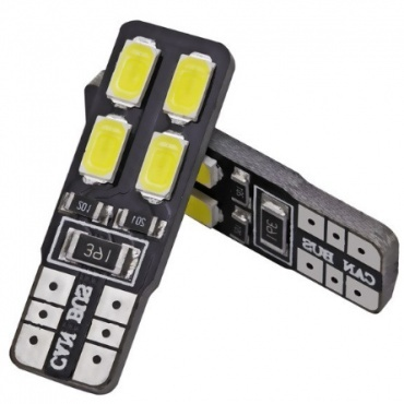 Ampoule T10 LED Twin<sup>4</sup> - Anti Erreur OBD - Culot W5W - Blanc Pur