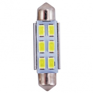 Navette 42mm LED Nav6 5730 - Anti Erreur OBD - C10W - Blanc Pur