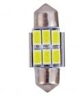Navette 31mm LED Nav6 5730 - Anti Erreur OBD - Culot C3W - Blanc Pur